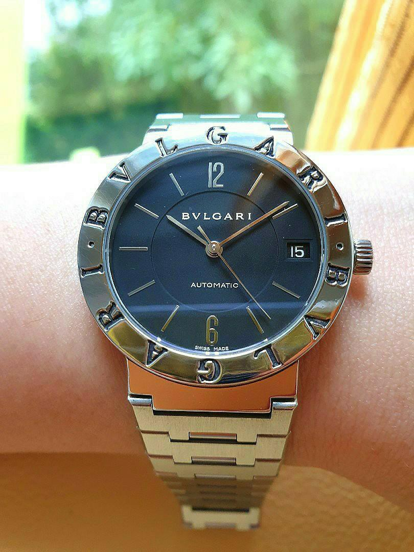 Bvlgari Black Dial Date Steel Automatic 33mm