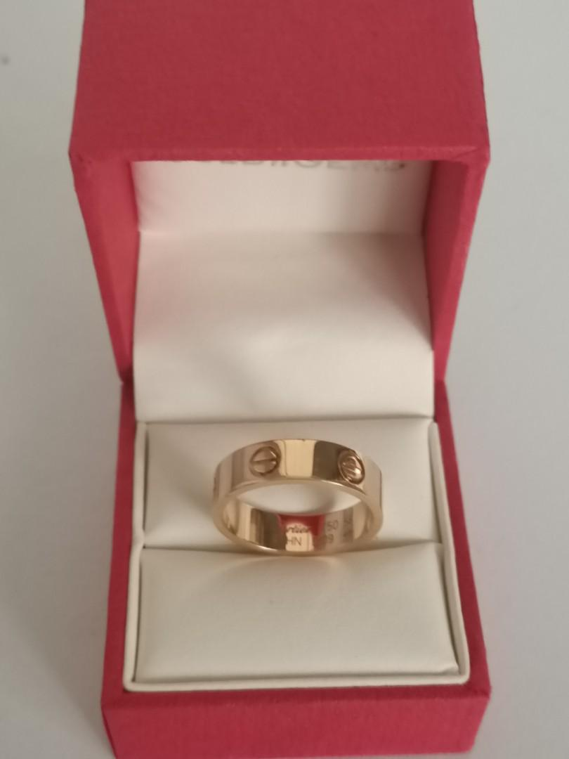 Cartier 18k gold ring   size 58 US 8