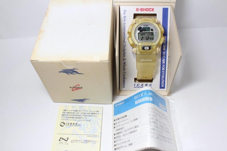 gshock CASIO G-SHOCK DW-9000 International Dolphin Whale Conference France All As One Clear