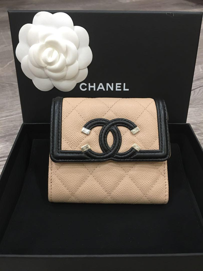 Chanel CC Filigree Trifold Wallet