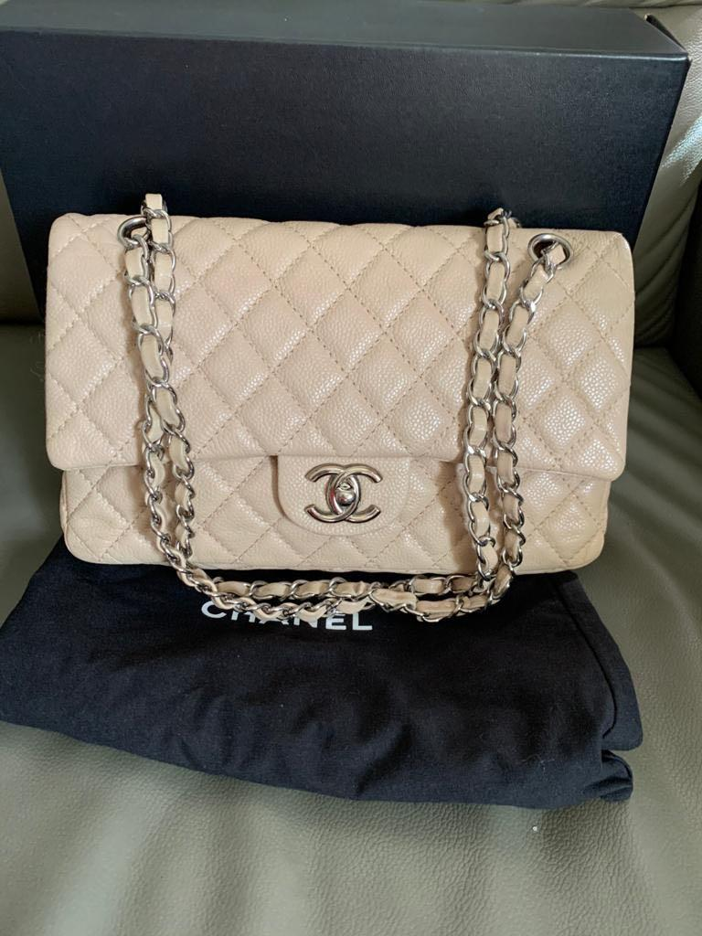 Chanel classic medium caviar flap bag