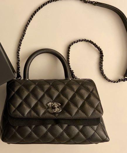 Chanel Mini Coco Handle So Black