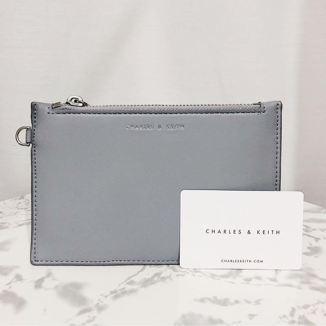 Charles & Keith Grey Pouch