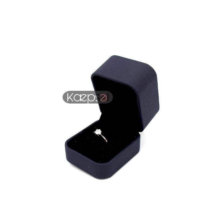 Classic Leathery Feel Design Wedding Proposal Ring Box (Stella Box)