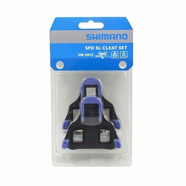 Cleat shimano SPD-SL original biru