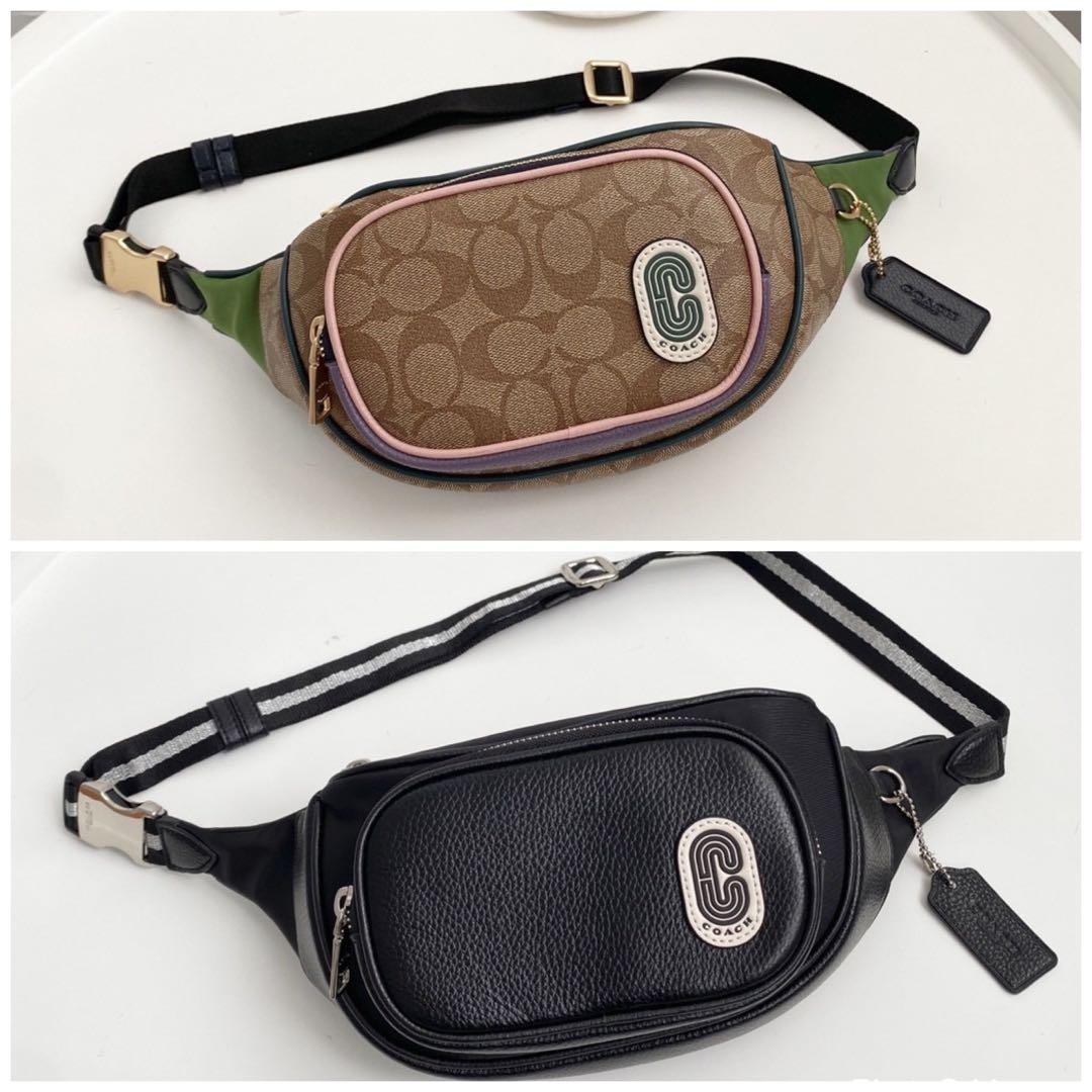Coach 91010 Court Chest&Belt Bag In Signature Nylon
