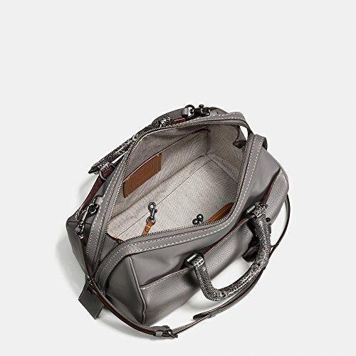 Coach Rogue 1941 Snakeskin Grey Glove Pebble Leather Satchel Bag