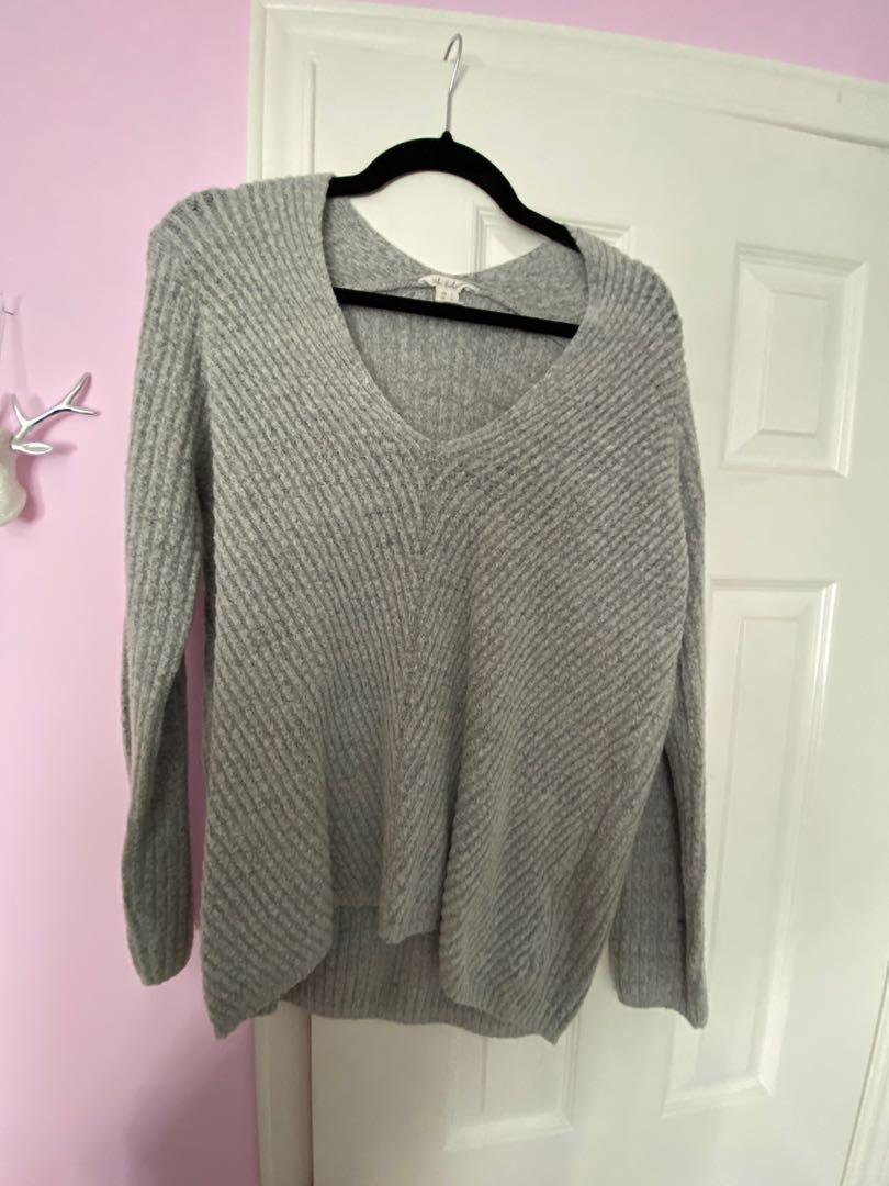 Comfy grey knit sweater