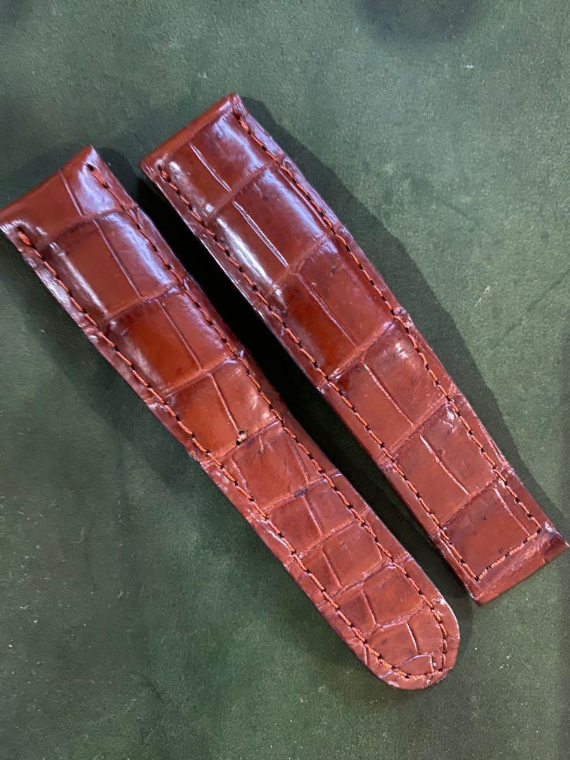 Croc strap for omega speedmaster with deployment clasp