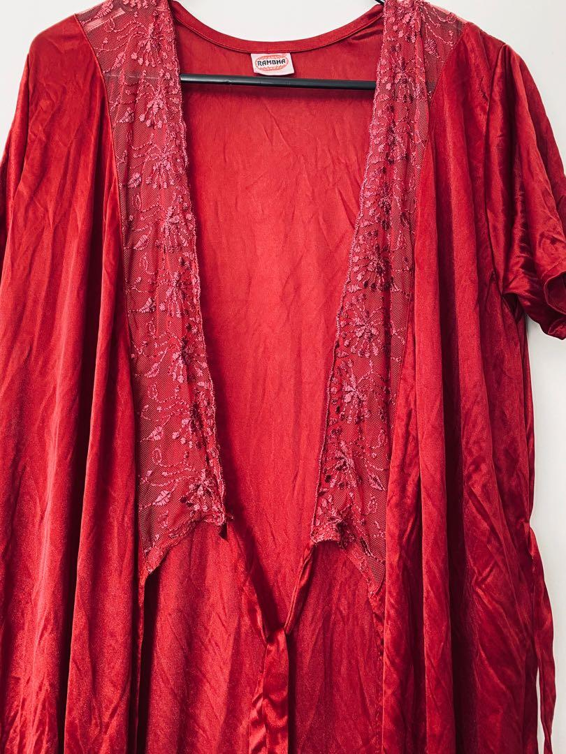 Deep red Night gown
