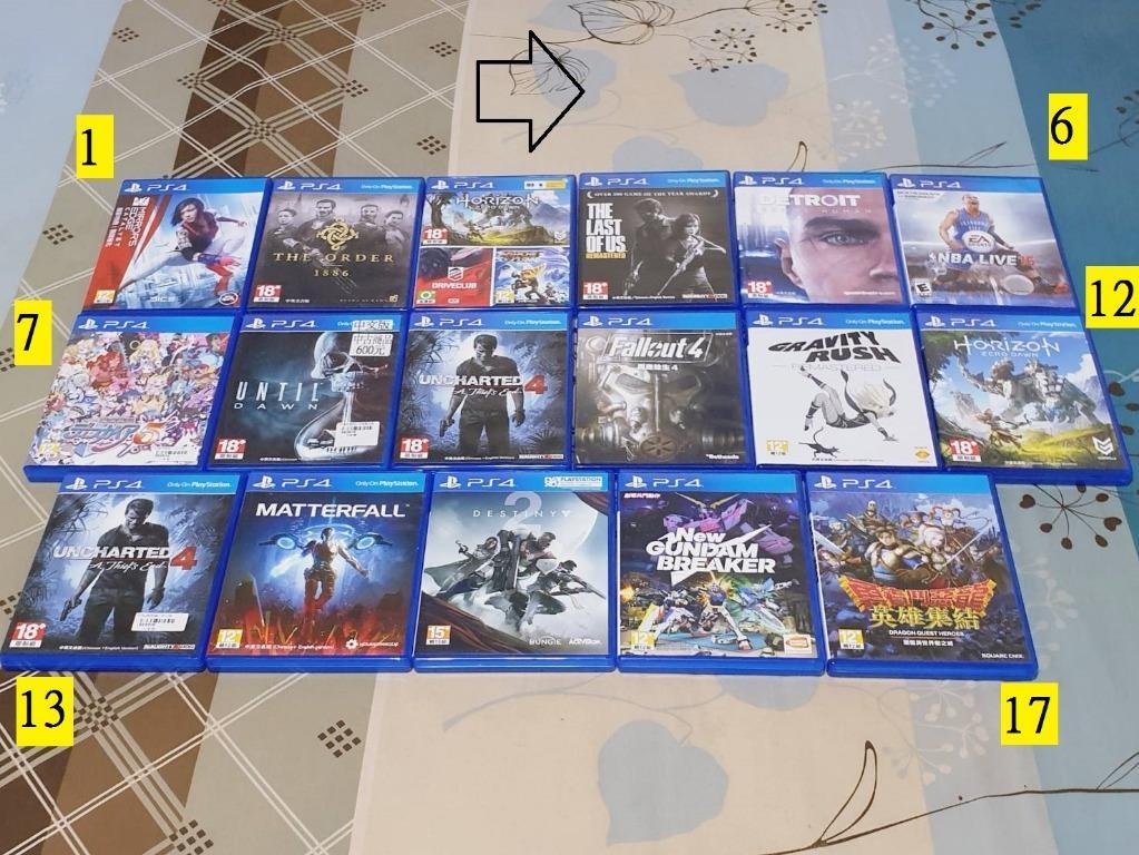 (each one 499)PS4遊戲每片499元