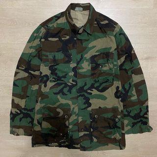 Edc🎱 U.S. Army BDU美軍公發 迷彩襯衫 穿搭 古著 vintage 軍用 公發