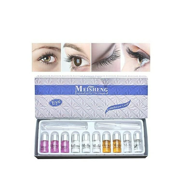 Eyelash lift kit  Comes with eyelash perm shield, perm solution, cleaning solution, moisturize solution and finalizing solution