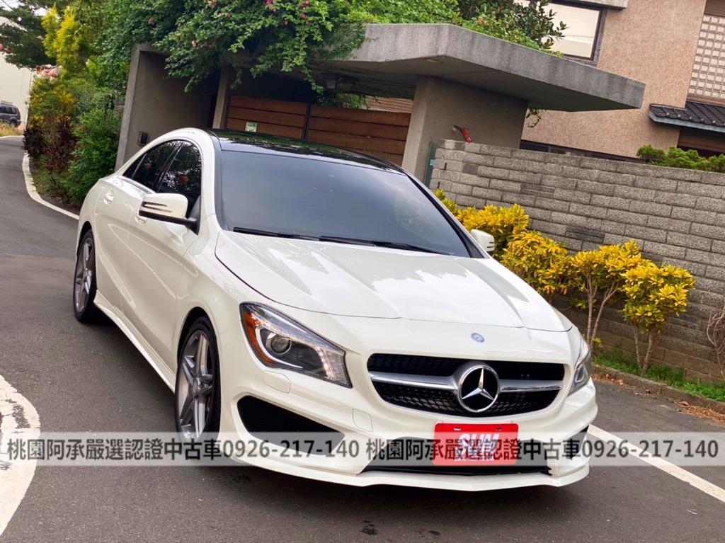 【FB搜尋桃園阿承】賓士 超人氣CLA250 AMG 2015年 2.0CC 白色 二手車 中古車