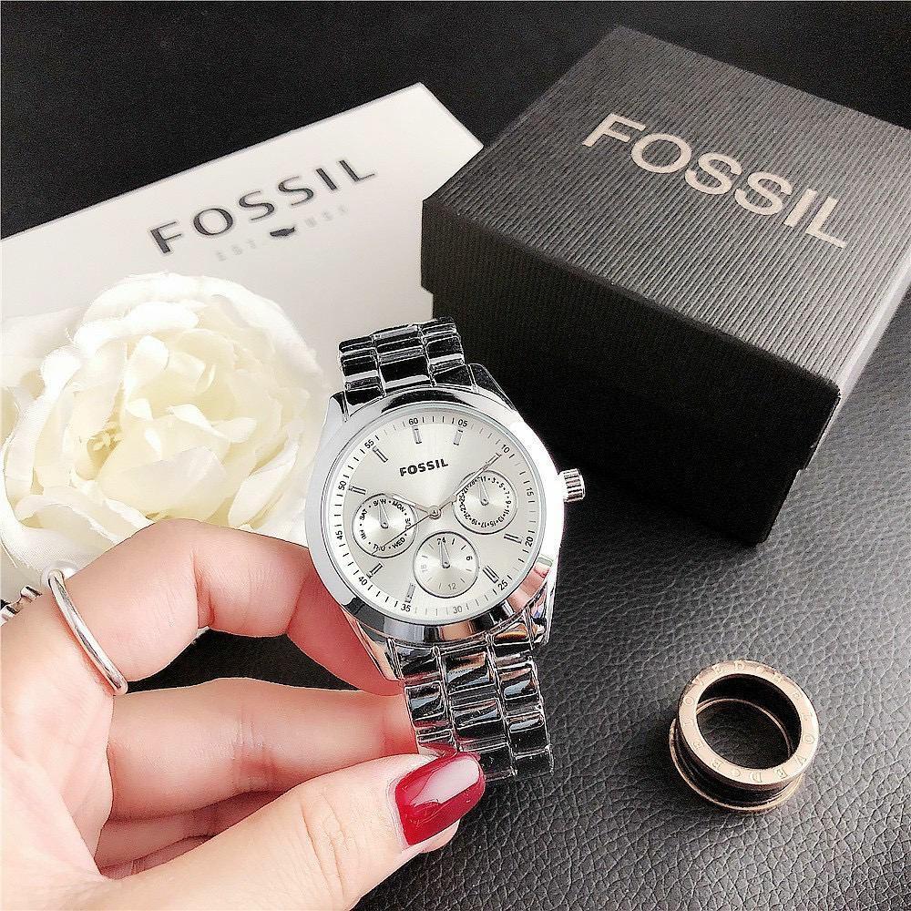 FOSSIL Woman Carlie Watch Casual Stainless Steel Watch Women