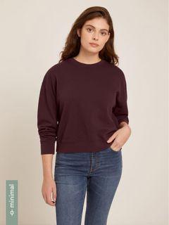 Frank and Oak Burgundy Sweater