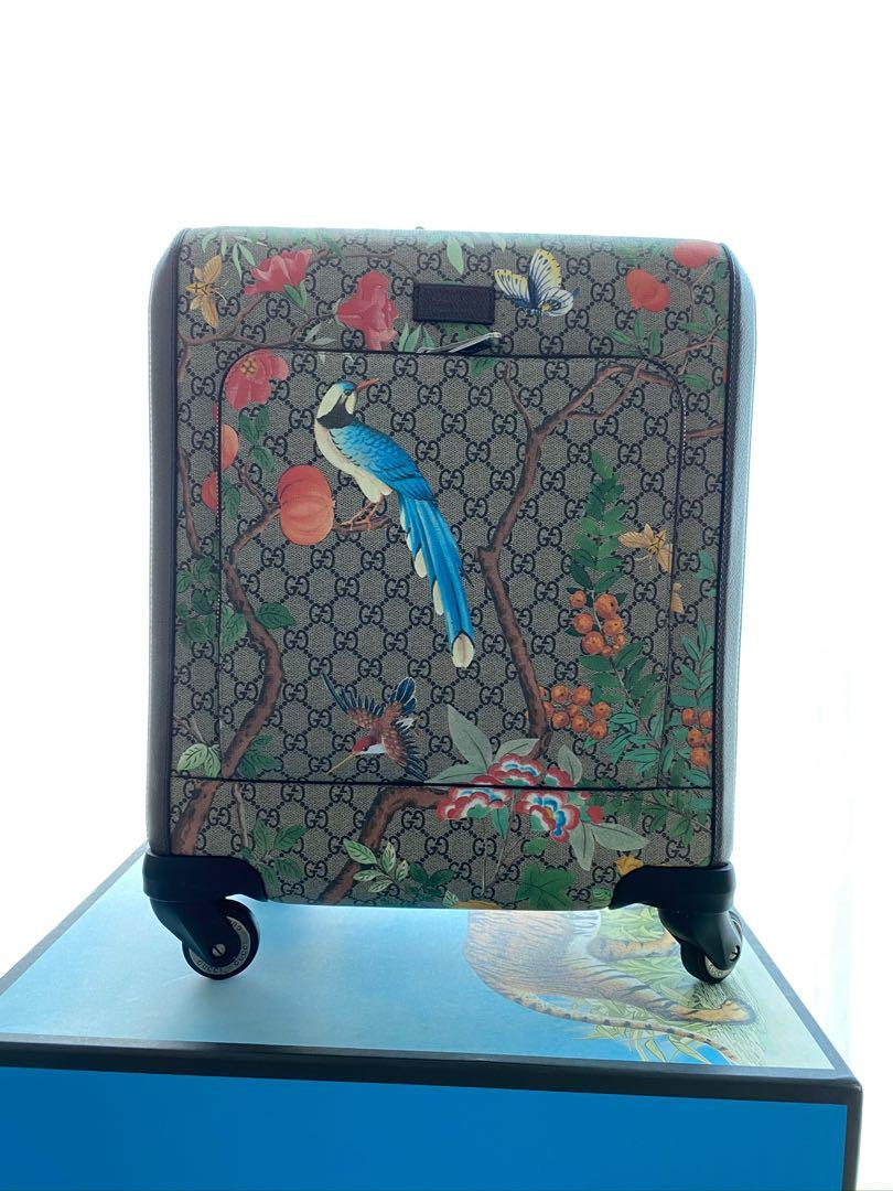 Gucci - Tian GG Supreme Four Wheel Carry-on Luggage in a new compact size. Made in GG Supreme canvas.