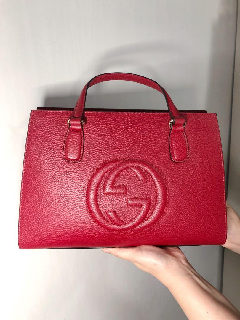 Gucci Red Tote Handbag