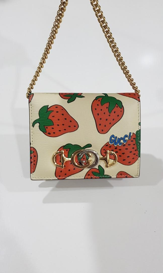 Gucci zucci 2019 strawberry Wallet card holder woc
