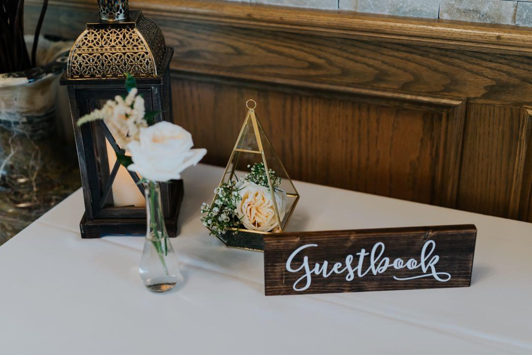 Guestbook and Gifts & Cards Wooden Signs ($20 each or $35 for both)