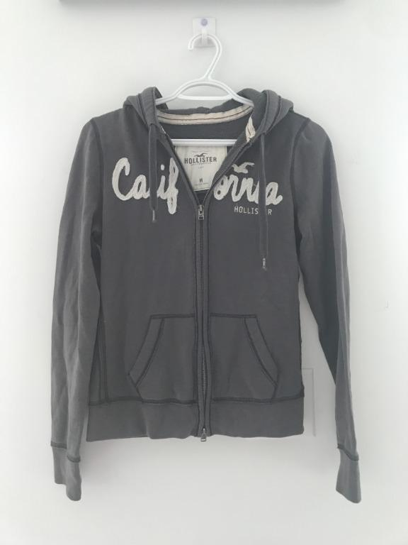 Hollister Grey Zipup Size Medium