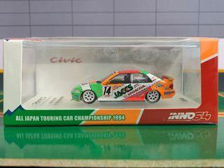INNO64 1:64 1992 HONDA CIVIC EF9 #14 JACCS JTC Japan Touring Car Championship Diecast Car Model