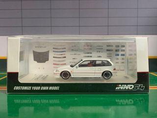INNO64 Honda Civic EF9 White Diecast Model Car