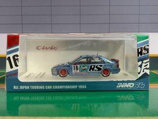 INNO64 HONDA CIVIC FERIO EG9 #16 CASTROL MUGEN JTCC 1994 CHAMPIONSHIP Diecast Car Mode