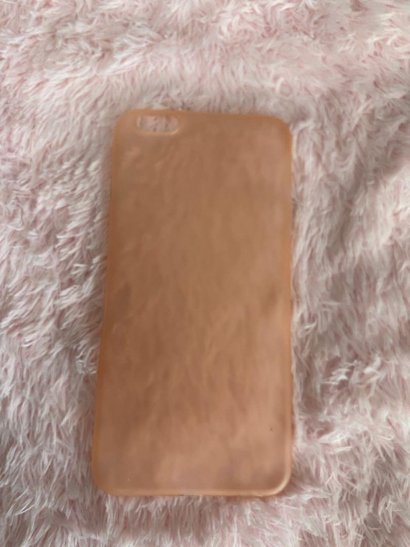 Iphone 6/7 plus sheer pink phone case