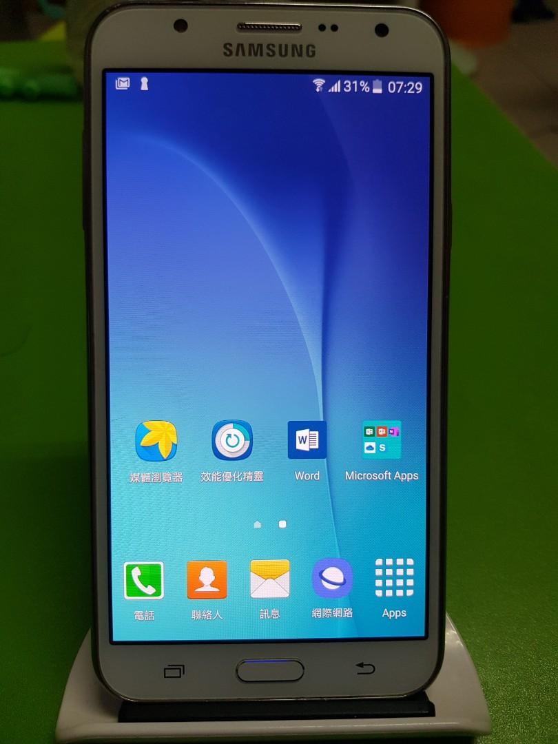 三星 GALAXY J7 白色(已過保)無盒裝單手機