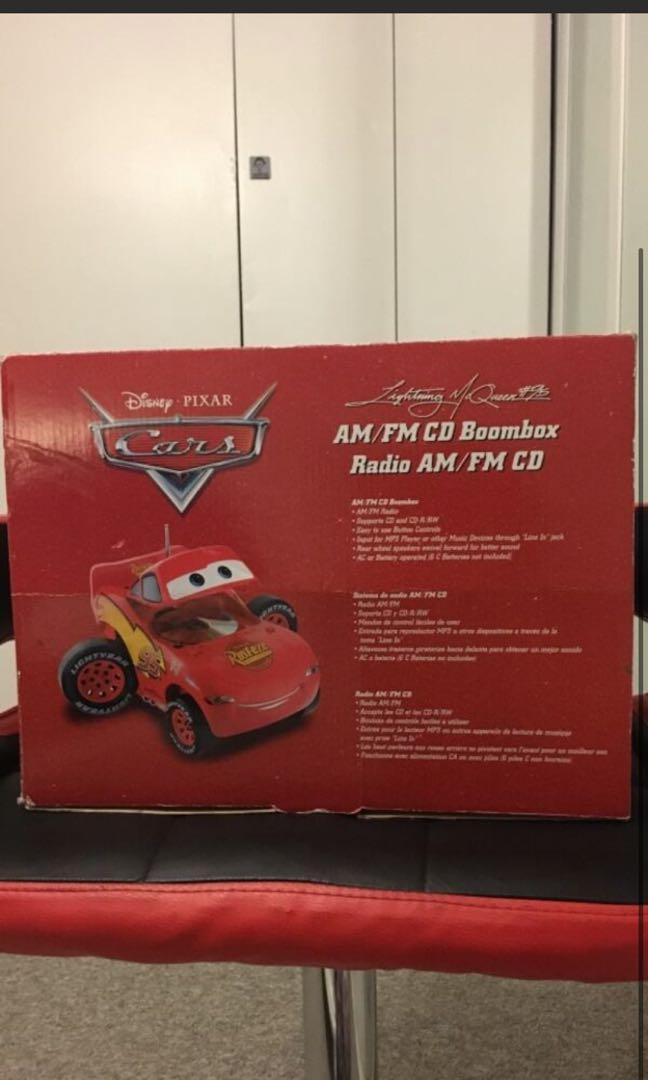 Lightning McQueen CD player