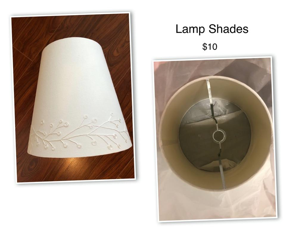 Like new lampshades Colour: white