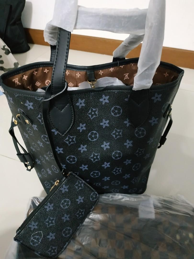LV black Monogram handBag set