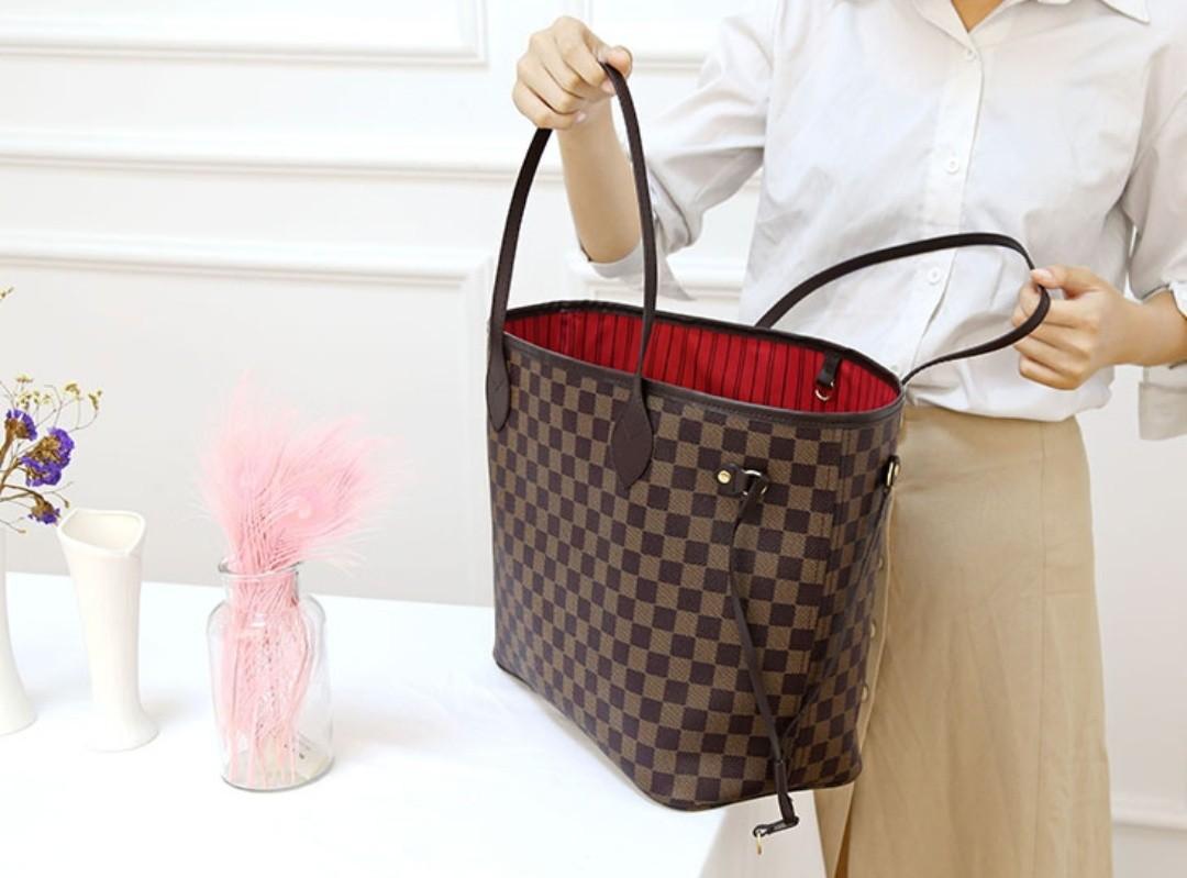 LV Neverfull Damier Handbag
