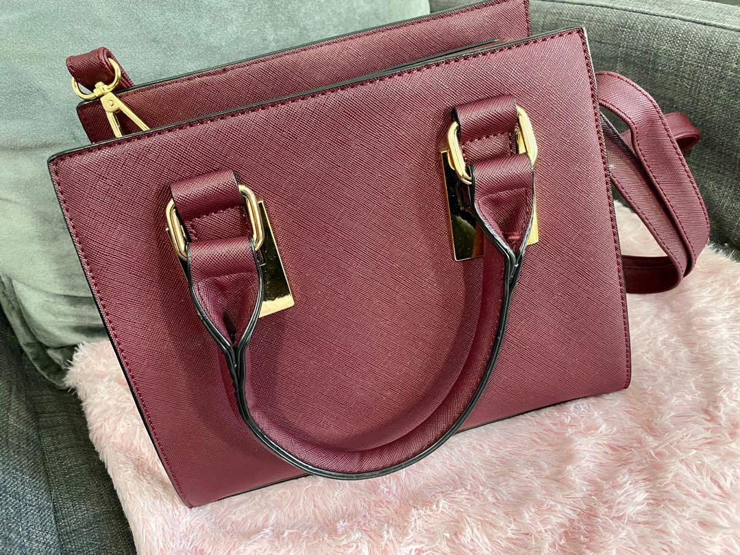 Maroon mini purse