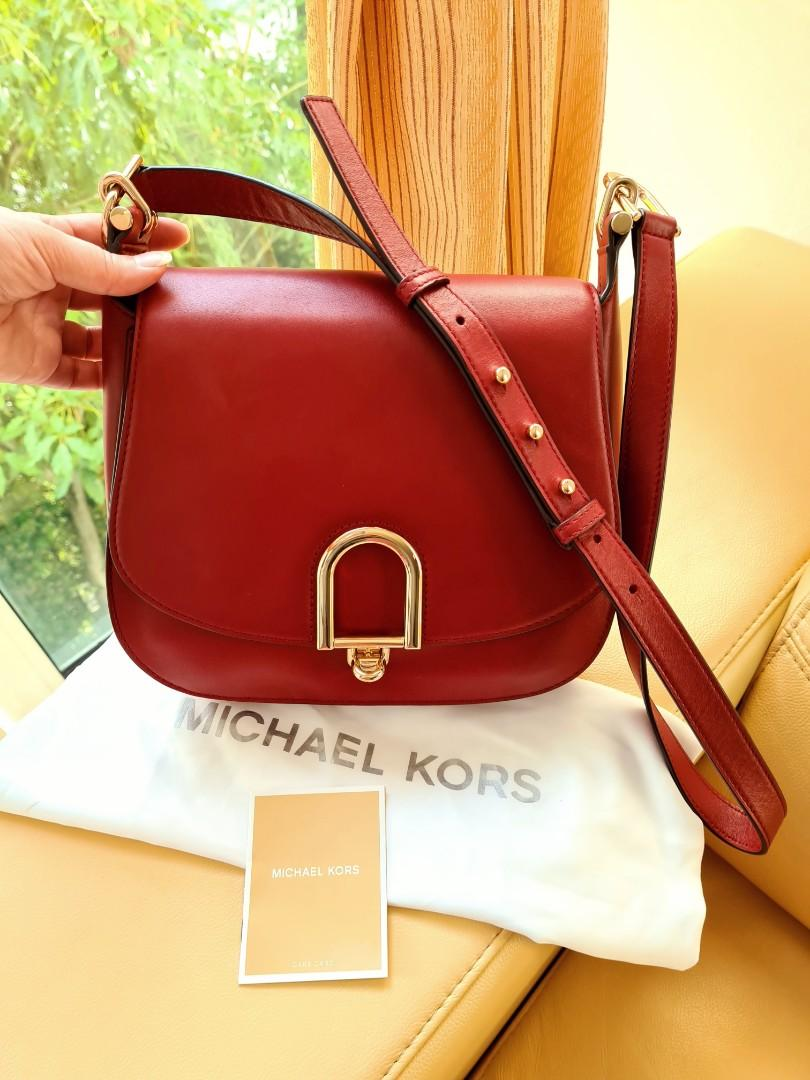 Michael Kors MK Red Sling Handbag