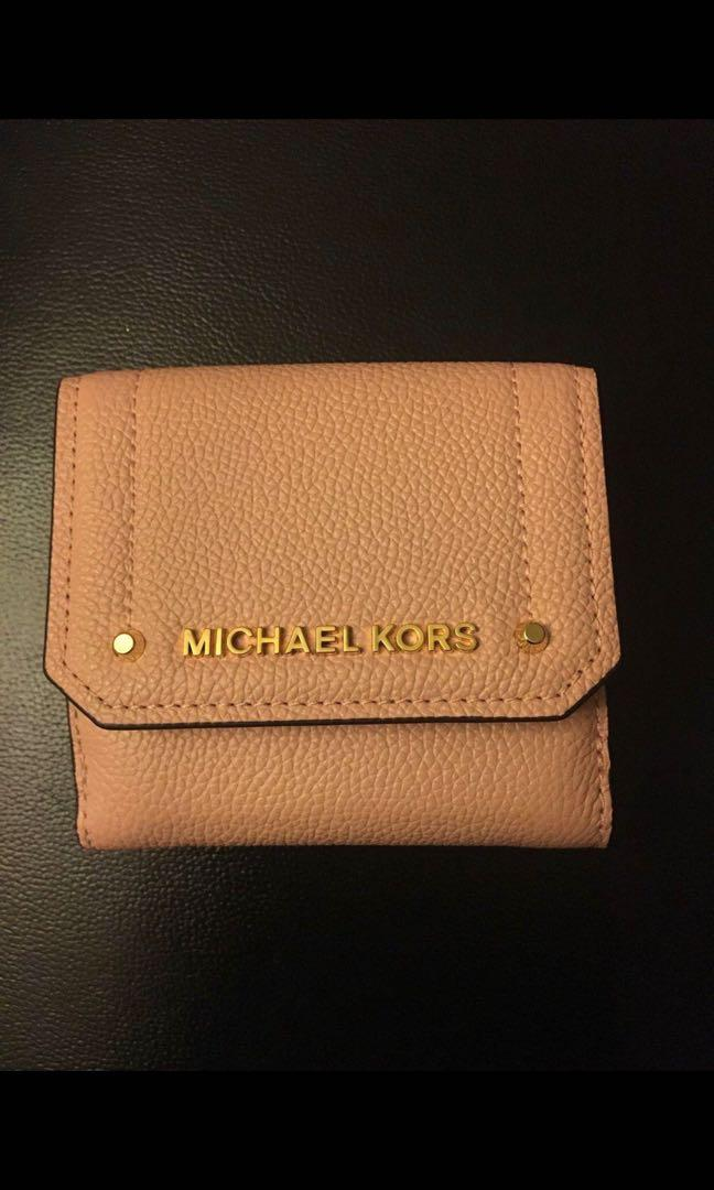 Michael Kors Pink Leather Wallet - Brand New