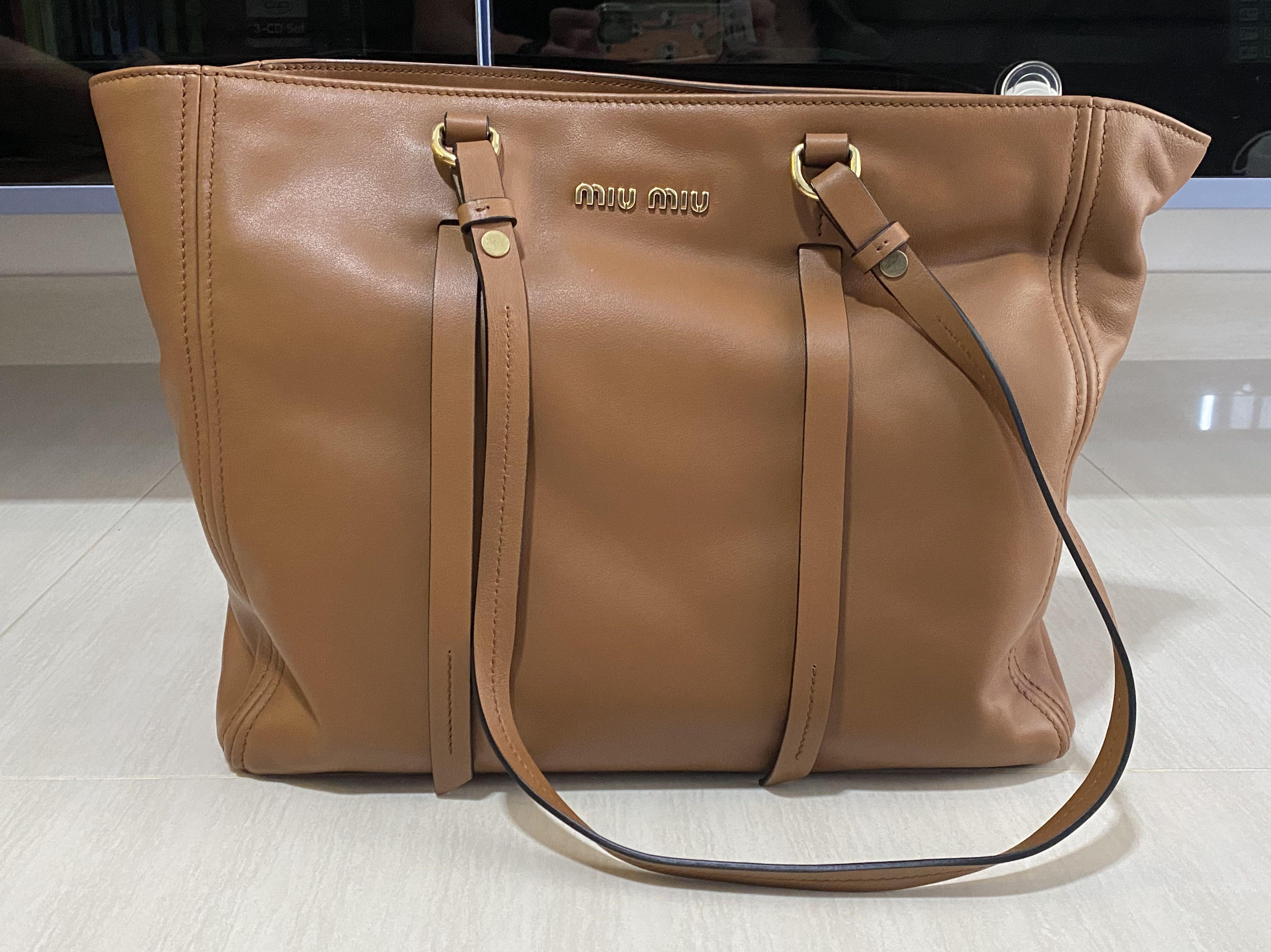 Miu Miu 5BG161 Shoulder Bag (Coonac)