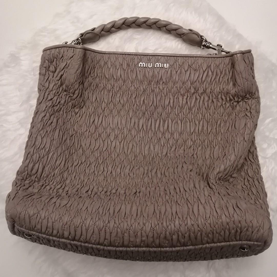 Miu Miu Nappa Cloquet Tote Bag