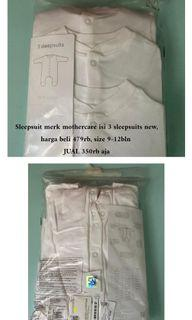 Mothercare sleepsuit 9-12months NEW set isi 3