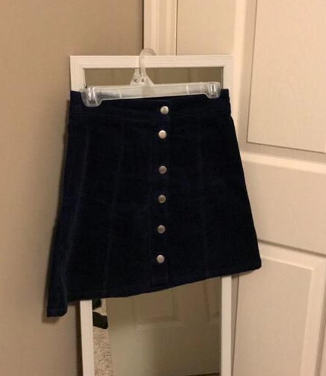 Navy Corduroy Skirt | Size 4