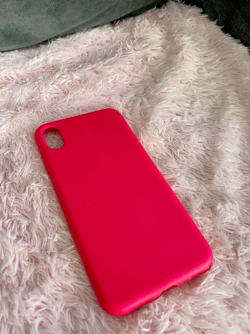 Neon pink Iphone Xs Max phone case