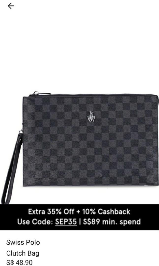 [NEW] Swiss Polo Clutch Bag