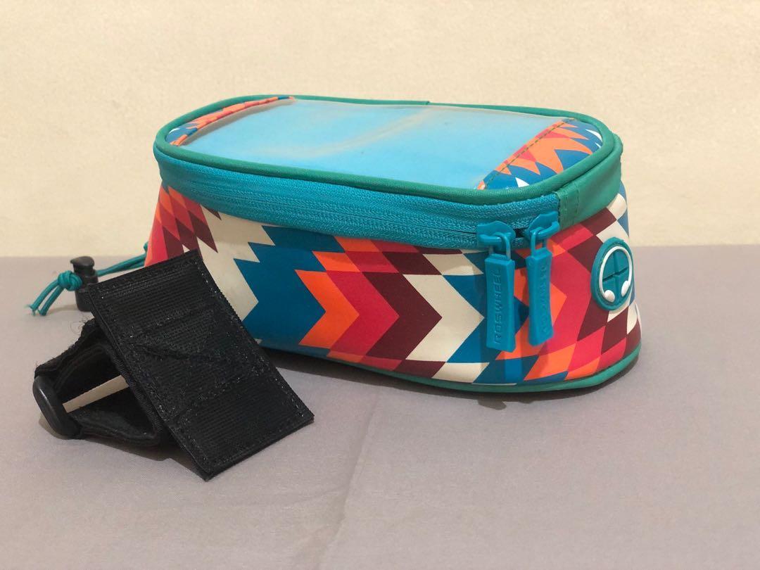[Preloved] Roswheel Tas Sepeda 6 inch Waterproof (Fit to Iphone X/XS) - Trier Blue
