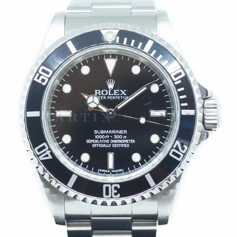 Preowned Rolex Submariner in Stainless Steel No Date Ref: 14060M