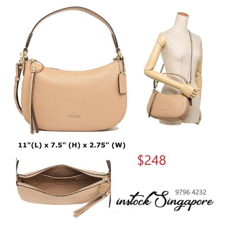 READY STOCK - 100% AUTHENTIC - NEW Coach Sutton Crossbody Womens Handbags & Shoulder Bags Beechwood 52548-GD/Beechwood