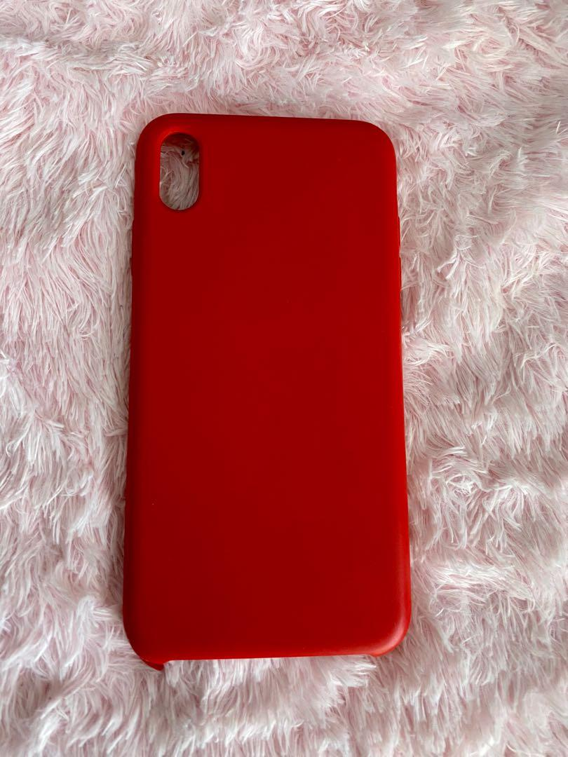 Red Iphone Xs Max phone case