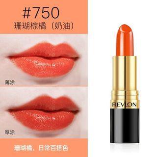 【九成新】Revlon #750盛夏戀橙 Kiss Me Coral (珊瑚橘紅色) 顯白顯年輕