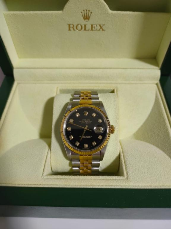 Rolex Datejust Black Diamond 16233