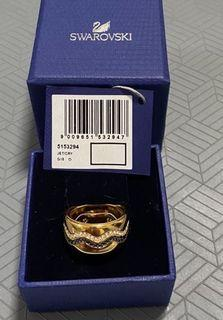 SWAROVSKI 施華洛士奇玫瑰金寬版戒指